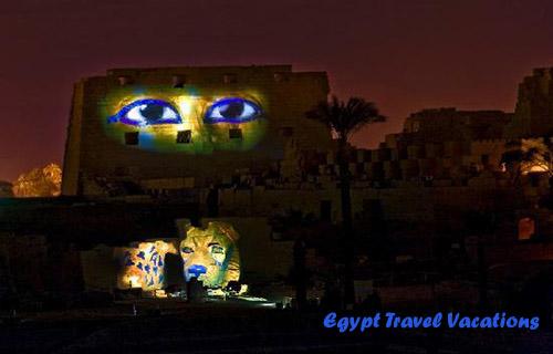 Sound light effect karnak temple